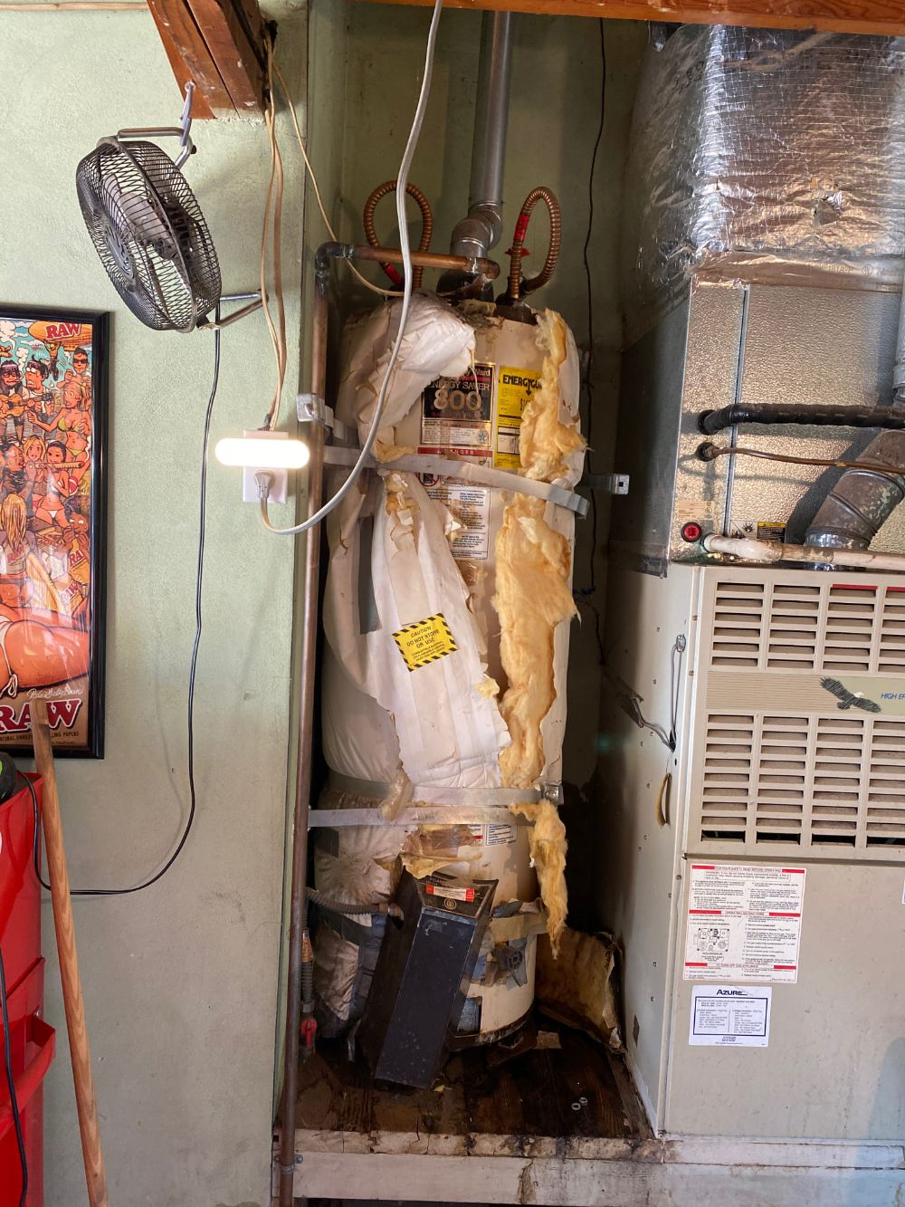 Removal of old leaking Water Heater with Brand New Rheem Water Heater in Stockton